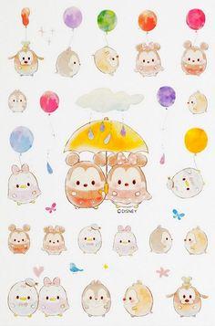 TsumTsum Cute Disney Drawings, Cute Drawings, Kawaii Drawings, Disney Doodles, Disney Love, Disney Magic, Disney Art, Kawaii Disney, Disney And Dreamworks