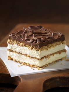 """Graham Cracker Eclair """"Cake"""" This delectably airy treat makes for a perfect summer dessert."""