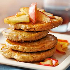 Spiced Oatmeal Pancakes with Sauteed Apples From Better Homes and Gardens, ideas and improvement projects for your home and garden plus recipes and entertaining ideas.