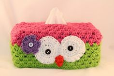owl tissue box cover- this is why I need to learn to crochet !!