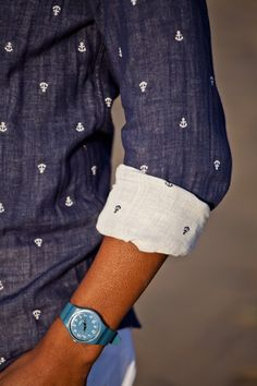 Anchors Away Button Down Shirt by Androgyny
