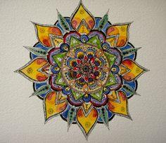 Watercolor Mandala Art Print