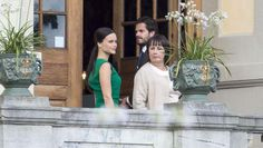 Engagement party of Prince Carl Philip and Sofia Hellqvists at Drottningholm palace
