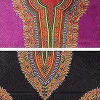 Traditional Print Brocade Fabric (T-4141)