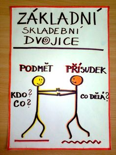 Základní skladební dvojice = kamarádi Home Games For Kids, Outdoor Activities For Kids, Teaching Posts, Funky Fonts, My Teacher, Classroom Activities, Science Experiments, Kids Education, Writing Inspiration