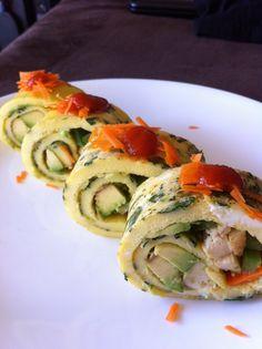 Paleo breakfast sushi