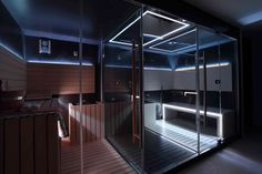 Luc's sauna in the loft. Relaxing, high tech, dark and sexy.  | Knightsbridge House | Howes & Rigby
