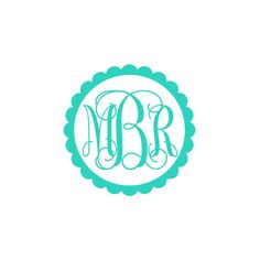 3 Inch or 5 Inch Monogrammed Scalloped Frame Vinyl Decal Vinyl Sticker 15 Vinyl Color Options Interlocking Font Only May not stick to all plastics including coolers Car Monogram, Preppy Monogram, Monogram Stickers, Circle Monogram, Monogram Gifts, Monogram Letters, Car Stickers, Tumbler Designs, Vinyl Designs
