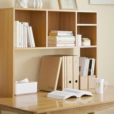 Shop at DormCo for The College Cube - Dorm Desk Bookshelf - Beech (Natural Wood). This dorm necessities item features a Beech color for high impact dorm room decor and has divided shelves so you can keep college textbooks, notebooks, and more organized. Small Bookshelf, Bookshelf Desk, Bookshelves, Wall Desk, Cube Desk, Dorm Necessities, Room Essentials, College Essentials, Desk Accessories