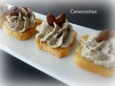 Paté de nueces y champiñones 3 tm5 Good Healthy Recipes, Healthy Cooking, Quiches, Food N, Food And Drink, Mousse, Vegan Snacks, Catering, Brunch