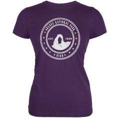 Arches National Park Purple Juniors Soft T-Shirt