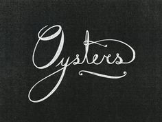 Designspiration — Dribbble - Island Creek Oysters by Jennifer Lucey-Brzoza