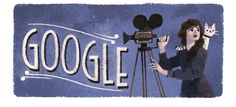 Google Doodle celebrating the birthday of actor, director, and producer Mary Pickford (1892-1979).