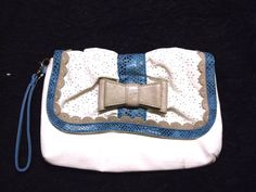 new white blue snake print purse clutch leather like eyelet accent animal prints #claires #clutchpurse