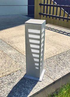 'Modern Lines' Aluminum Outdoor Bollard Lighting -- 'Modern Çizgiler' LED Kısa Dış Mekan Aydınlatma Armatürü