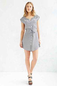 Jack By BB Dakota Remus Striped Shirt Dress - Urban Outfitters