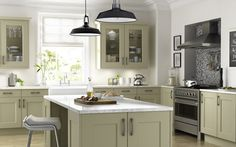 The Cambridge Dakar Kitchen - sleek and modern with traditional elements in the doors and cabinets.
