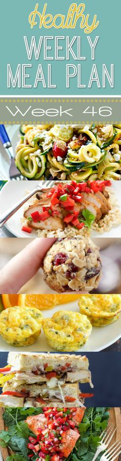 Healthy Weekly Meal Plan #46