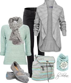 Stylish And Casual Fall Outfit Ideas For Womens 11 - Vests are one of the most popular fashion accessories. They can literally transform an outfit from boring to amazing in an instant! These sleeveless g. Comfortable Winter Outfits, Winter Outfits For Work, Fall Outfits, Casual Outfits, Cute Outfits, Mint Outfits, Outfit Winter, Fashionista Trends, Winter Wear