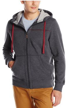 this jacket looks cozy! I think my hubby would love it! Men's Long-Sleeve Sueded Fleece Hooded Jacket