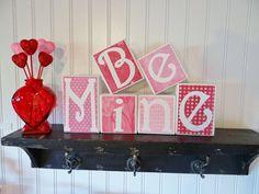 Be Mine / Valentine's Day Decor / Love / by NicsLoveLetters, $30.00