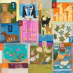 Animal Counting Canvas Art
