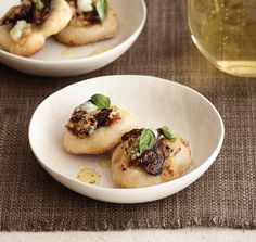 Dried Fig and Blue Cheese Pizzettes