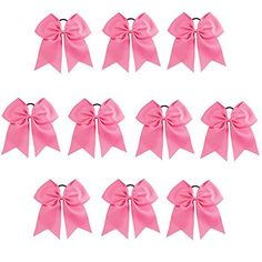 CN Girls Cheer Bow with Ponytail Holder for Cheerleading Girl Pack of 10 Color Lt Orchid Toddler Hair Bows, Baby Hair Bows, Cheer Ponytail, Hair Bow Supplies, Hair Bow Tutorial, Dog Bows, Making Hair Bows, Cheer Bows, Ponytail Holders