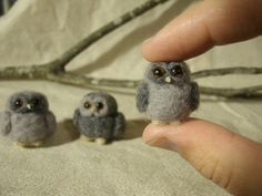 Needle Felted Owls Miniature