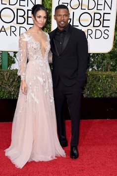 73rd Annual Golden Globe Awards - Best Dressed Men - Jamie Foxx, a presenter at the ceremony, pulled a Steve Harvey while on stage, was cool in all black as he walked the red carpet with his daughter Corinne, who was this year's Miss Golden Globes.
