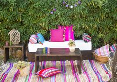 Chill out Andino style for events - Hand made cushions with aguayos