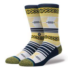 Stance Motto Crew Training Socks Size M