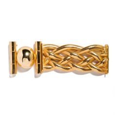 """Ugo Correani bracelet, 1990s, $485 - """"This is just good wrist drama. It was designed by Ugo Correani, one of the great unsung heroes of costume jewelry design in Europe, and one of the talents we champion in our overall vintage jewelry collection at LaDoubleJ.com. Anna was close with him. He worked behind the scenes for so many great houses, especially Gianni Versace, and produced just exceptionally beautiful, quality-made pieces."""""""