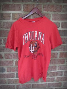 Vintage 1987 NCAA Indiana Hoosiers National Champs Shirt by CharchaicVintage, $16.00