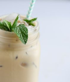 fresh mint iced coff