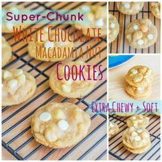 Super Chunk White Chocolate Macadamia Nut Cookies. The chewiest, chunkiest, softest version of the classic cookie!
