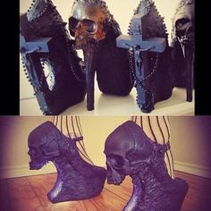 I don't particularly like the crucifixion shoes because imo, they're a bit disrespectful to the religion (and, regardless or beliefs or lack thereof, religious beliefs imo should be respected).... anywho, both the creepy goth skull stilettos are KILLER.