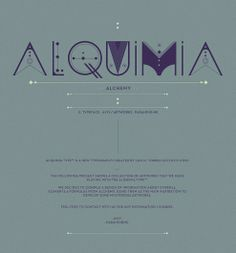 ALQUIMIA TYPE on the Behance Network