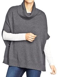 Women's Cap-Sleeve Cowl-Neck Sweaters | Old Navy Color: Heather Charcoal Size XXL