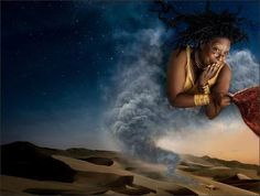 "Annie Leibovitz's ""Disney Dream Portrait Series"" :   Whoopi Goldberg as the Genie from ""Aladdin"""