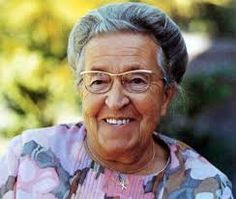 Corrie ten Boom. Dutch Christian who (along with her family) saved approximately 800 Jews and Dutch Resistance fighters during World War II.