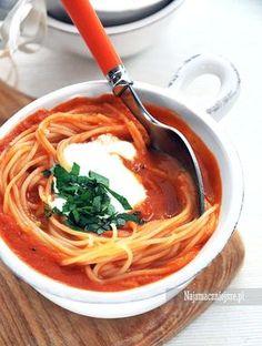 Kremowa zupa z pomidorów