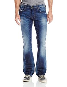 Diesel Men's Zatiny Micro Bootcut Leg Jean 0833W, Denim, 32x30. Sand paper use. Variation: Size - 32W x 30L. Stretch indigo with normal finish.