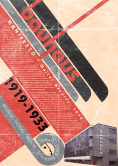 I love the folds in this. Bauhaus Manifesto Poster by ~fokiohero on deviantART Bauhaus Art, Bauhaus Style, Bauhaus Design, Graphic Design Posters, Graphic Design Typography, Graphic Design Inspiration, Typographic Poster, Typographic Design, Bauhaus Architecture