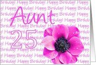 25th birthday for aunt, pink anemone Card by Greeting Card Universe. $3.00. 5 x 7 inch premium quality folded paper greeting card. Birthday greeting cards & photo cards are available at Greeting Card Universe. We have everything from custom cards to professionally designed cards. Turn to Greeting Card Universe for all your birthday card needs. This paper card includes the following themes: photo, photography, and studio porto sabbia. Greeting Card Universe has the bigges...