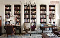 Splendid Sass: THOMAS O'BRIEN ~ DESIGN ON FIFTH AVENUE - aubergine bookcase