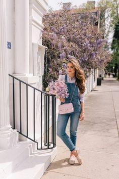 Gal Meets Glam Bringing Out My Favorite Overalls #shopthelook #SpringStyle