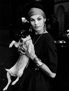Jacky with dog, Paris, circa 1950 - Galerie VU - Christer Strömholm series of transgendered women in Paris in the 1950s and '60s