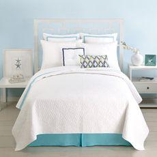 Trina Turk Santorini Coverlet, 100% Cotton - White - Bed Bath & Beyond