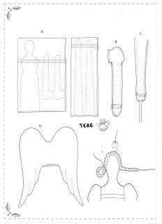 Artesanato e Cia: Moldes da boneca Tilda